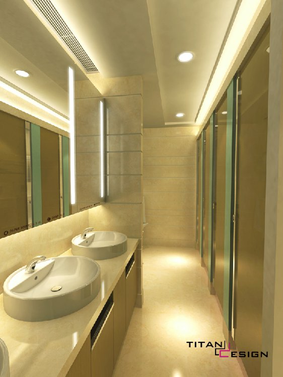 interior design office lobby lavatory titan design