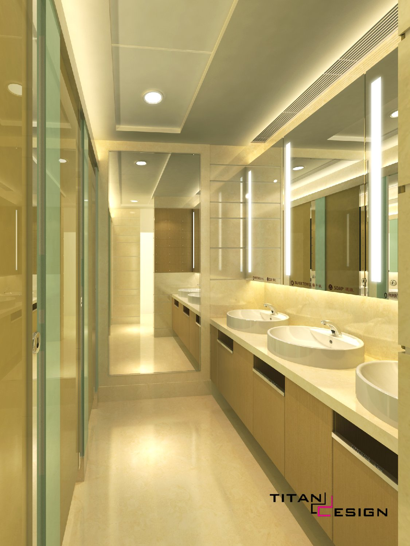 装修项目 写字楼大堂及洗手间设计 高清图片